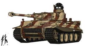 Tiger 1 Ausf E, of s.Pz Abt 501, 1943.
