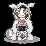Kenma in Totoro onesie by Brookfan