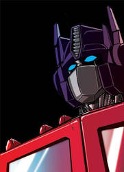 Shadowy Optimus by Mentacle