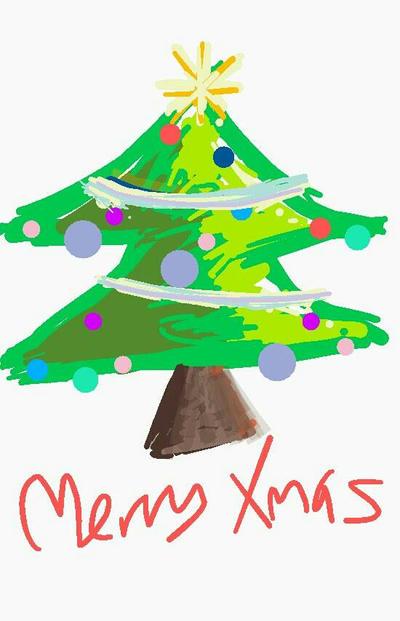 Christmas tree   by EmmaS-Bowbie