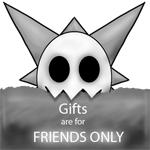 :stamp: Skull - gifts are for friends only by TheFailedDream