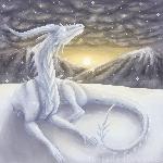 :Gift: EwEd96 - Ice dragon pixel by TheFailedDream