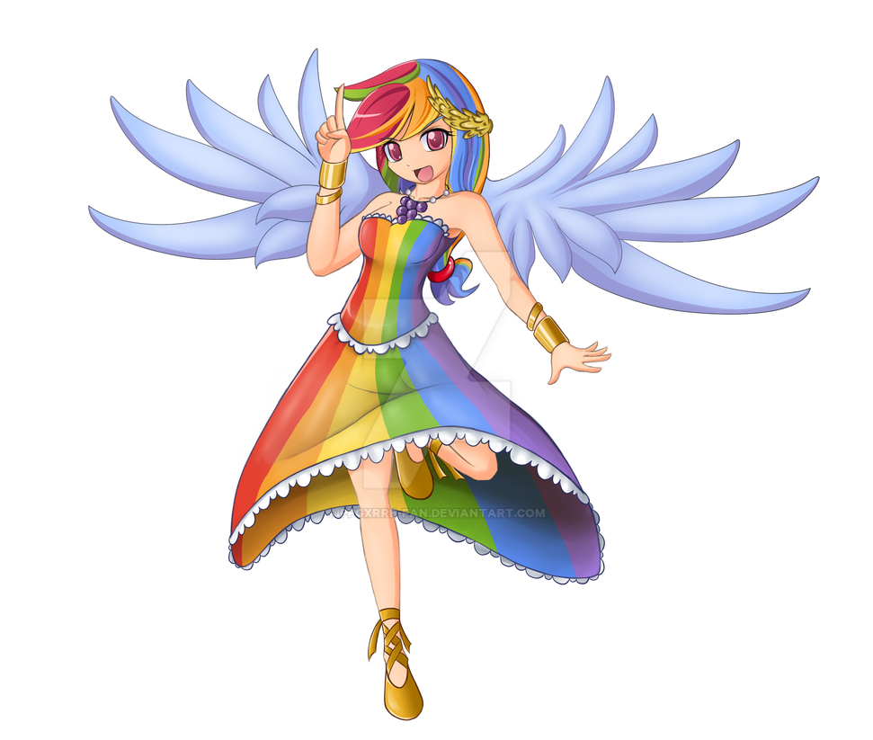 MLP: Rainbow Dash Gala dress by PPGxRRB-FAN