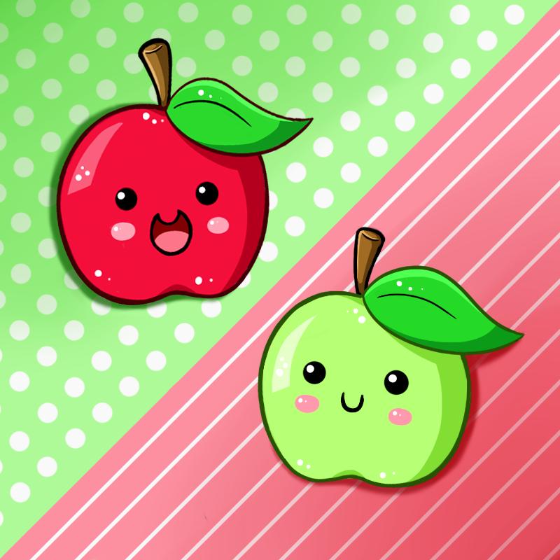 Cute Food- Apples by PPGxRRB-FAN on DeviantArt