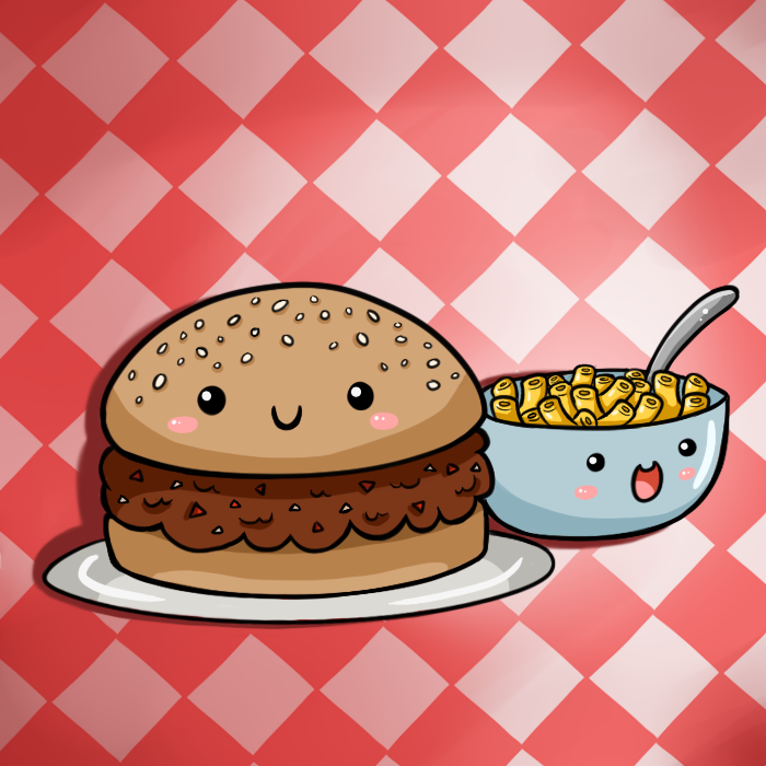 Cute Food- Sloppy Joe and Mac n' Cheese by PPGxRRB-FAN on ...