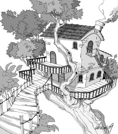Scenery drawing 3 by lanron on deviantart for Fish scenery drawing