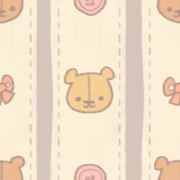 KAWAII DESU BEAR TILE by genicecream