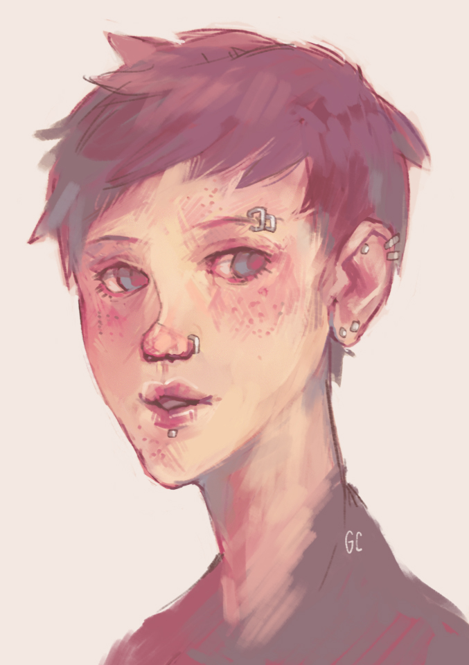 how to draw freckles sai