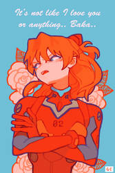 evangelentines- asuka by genicecream