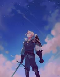 of the indigo skies by genicecream