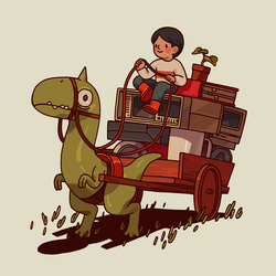 dino cart by genicecream