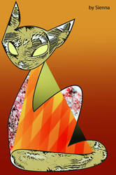 abstract cat by draculinaxy