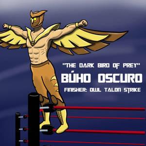 Midnight Owl lucha libre version by Rae Steve