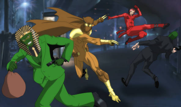 Midnight Owl and Dark Siren vs The Green Mummy