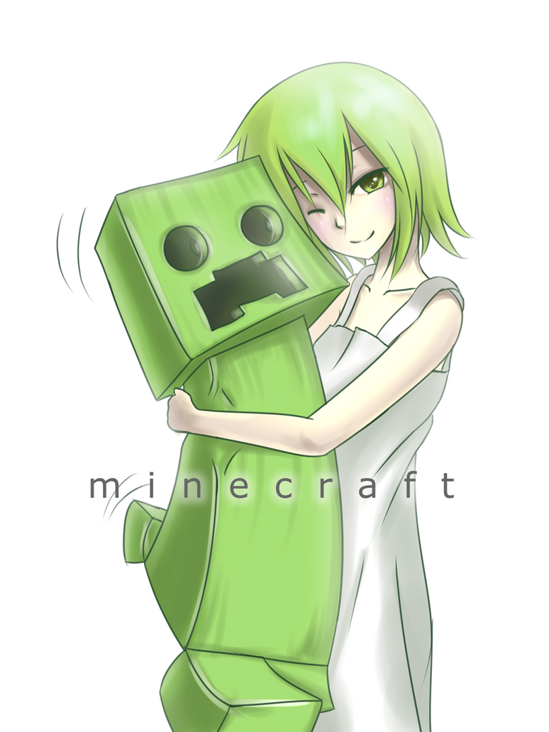 Post your minecraft related creeper drawings here fan - Creeper anime girl ...