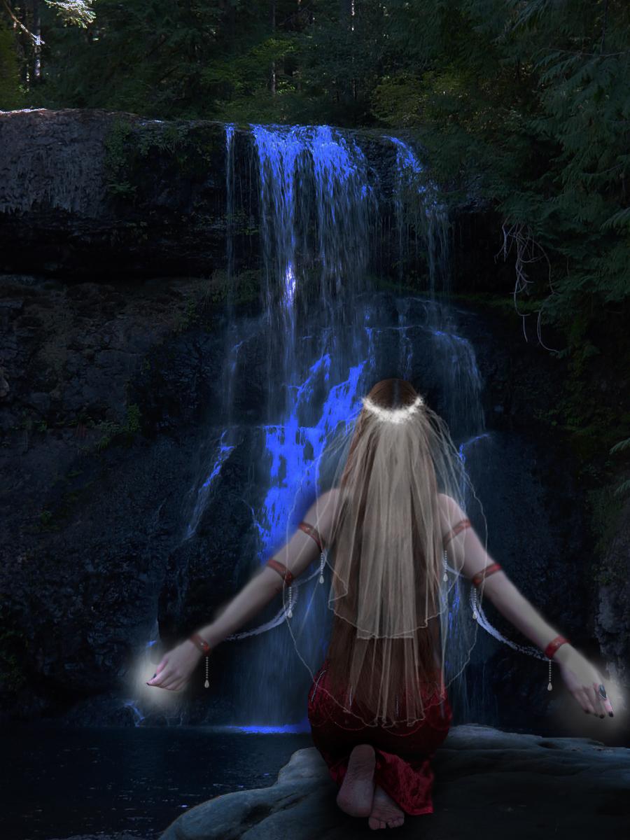 Lady of the Water Fall by TeardropOfAngel