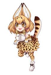 Serval - kemono friends (speedpaint in descrip) by rebbykat