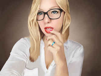 Woman with glasses by EternallyIgnorant