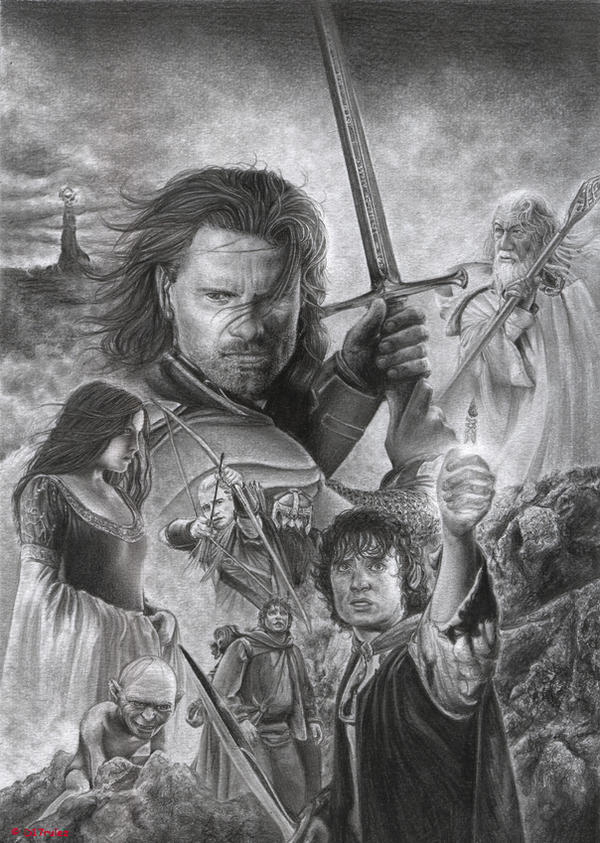 dibujos - dibujos de carteles de la pelicula The_Lord_of_the_Rings_by_D17rulez