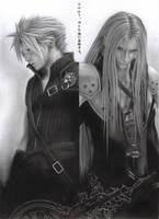 Final Fantasy Cloud Sephiroth by D17rulez