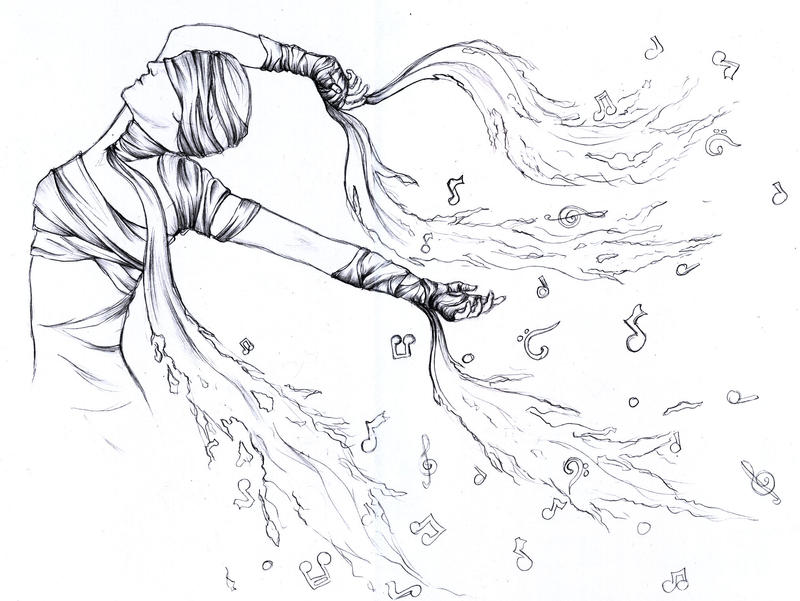 Line Drawing Music : Music is my life line art by d rulez on deviantart
