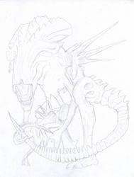 Alien Queen WIP 1 by D17rulez