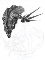 Alien Queen WIP 2 by D17rulez