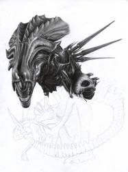 Alien Queen WIP 3 by D17rulez