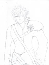 Cloud Strife WIP 1 -  Lineart by D17rulez