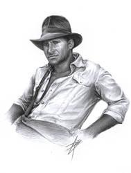 Indiana Jones Sketch by D17rulez
