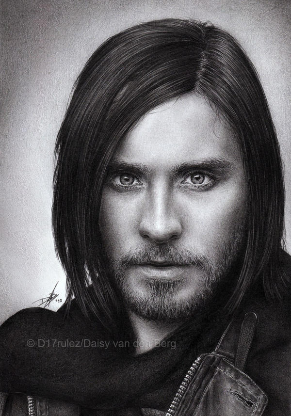 Jared Leto Pencil Drawing by D17rulez