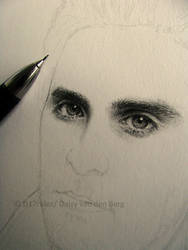 Drawing of Jared Leto WIP 1