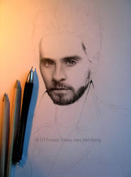 Drawing of Jared Leto WIP 2