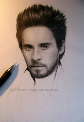 Drawing of Jared Leto WIP 3