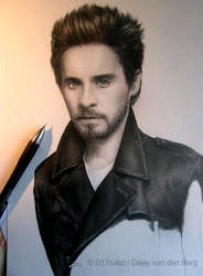 Drawing of Jared Leto WIP 4