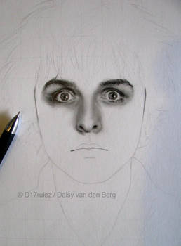 Drawing of Billie Joe Armstrong WIP 1