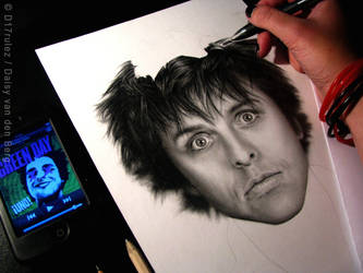 Drawing of Billie Joe Armstrong WIP 3