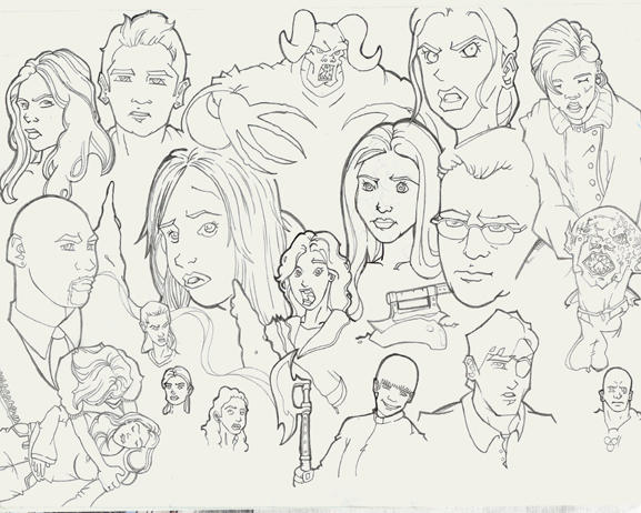 buffy coloring pages coloring pages