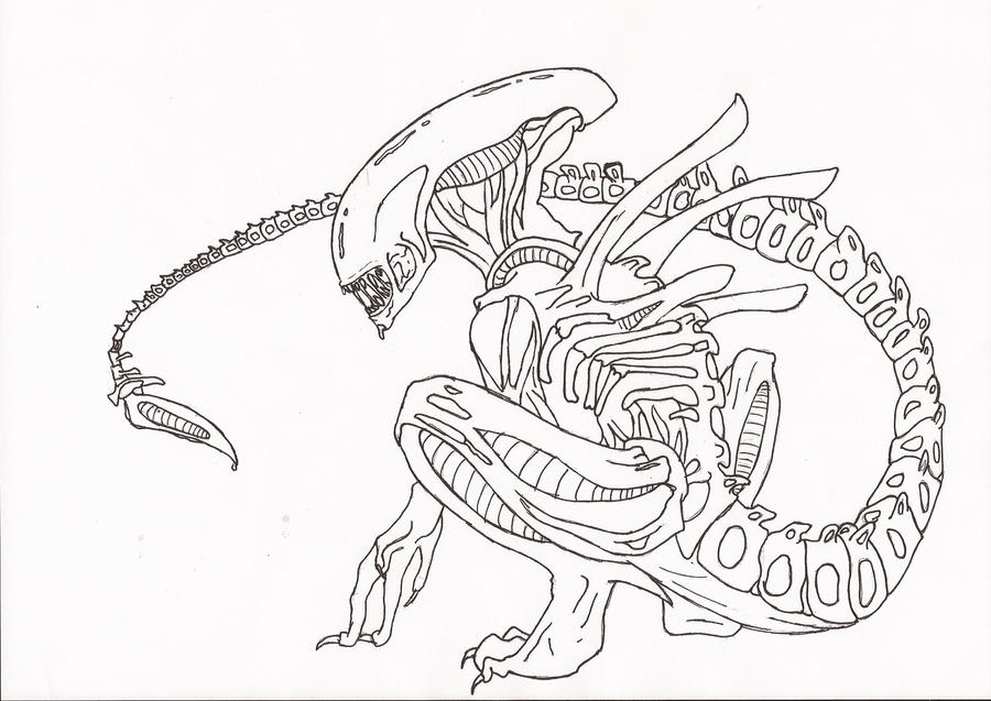 Xenomorph dome coloring pages coloring pages for Xenomorph coloring pages