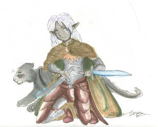 Drizzt-y Goodness by Bourei