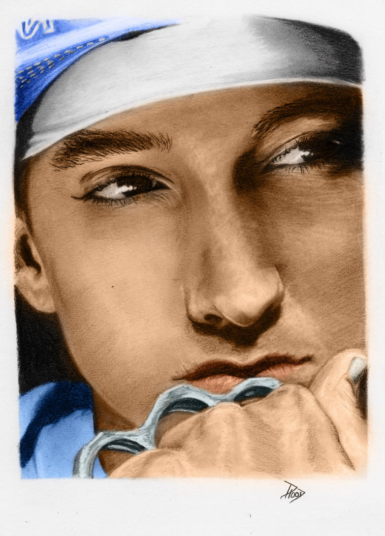 Eminem eye colour