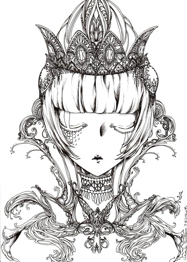 Crystal Crown uncoloured by akanotsubasa