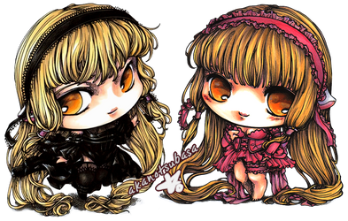 [FOR SALE] Chii and Freya chibis by akanotsubasa