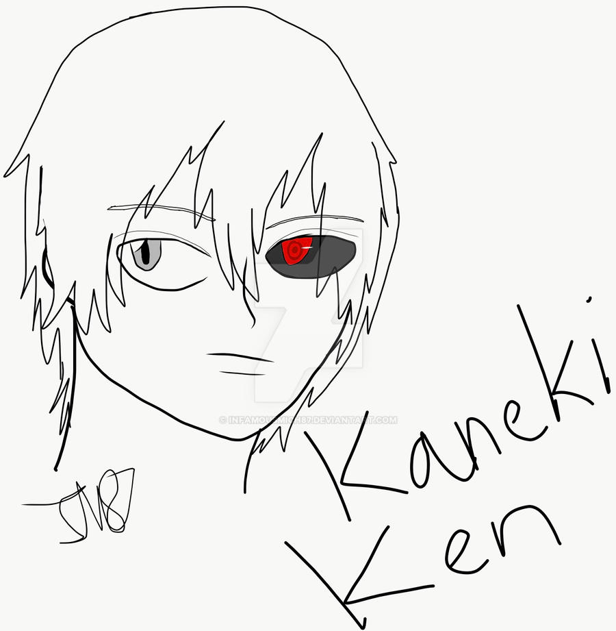 how to draw kaneki