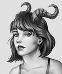 Horned Girl by Gabriel-Marra