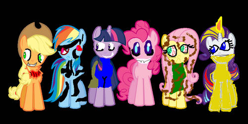 Mane Six Not you scare but pinkie a little
