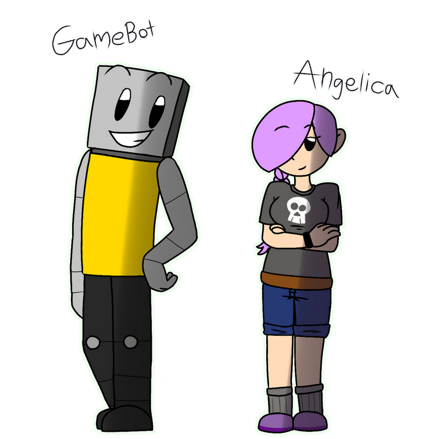 GameBot and Angelica by PainterGoof