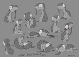 More Zombidillo Sketches by Sefeiren