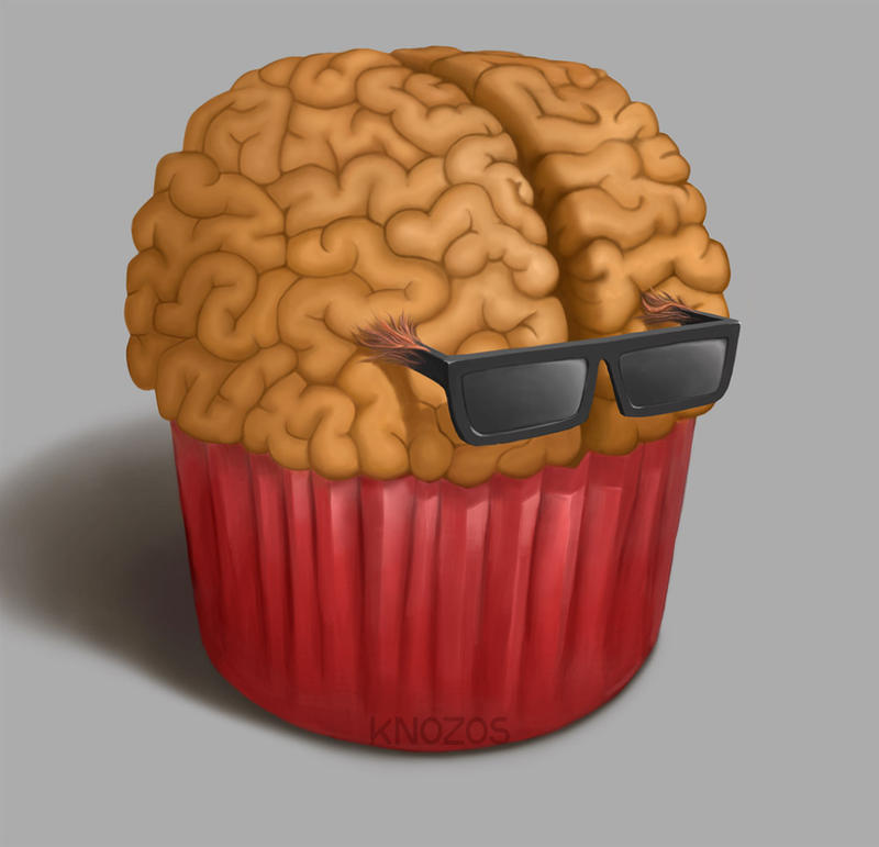Cupcake with glasses by knozos