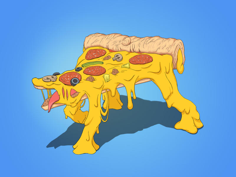 Pizzamonstruo by knozos